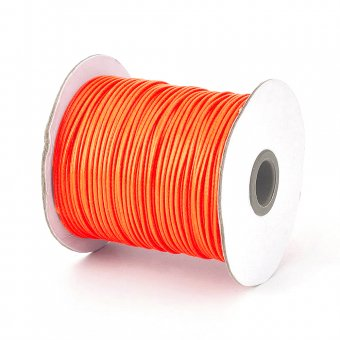 Ata din poliester cerata, 1 mm, rosu orange