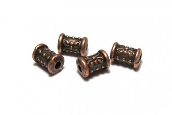 Margele din metal, cupru, 7x5 mm
