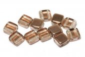 CzechMates Tile, 6x6 mm, Crystal Capri Gold-27101