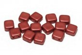 CzechMates Tile, 6x6 mm, Lava Red-01890