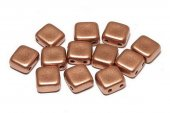 CzechMates Tile, 6x6 mm, Vintage Copper-01770