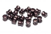 Diabolo Beads, 4x6 mm, Alabaster Pastel Dark Brown - 02010-25036