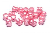 Diabolo Beads, 4x6 mm, Alabaster Pastel Pink - 02010-25008