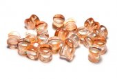 Diabolo Beads, 4x6 mm, Crystal Apricot Medium - 00030-29121