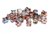 Diabolo Beads, 4x6 mm, Crystal Copper Rainbow - 00030-98533