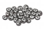 Es-o® Bead, 5 mm, Alabaster Metallic Steel-29403