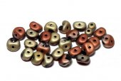 Es-o® Bead, 5 mm, Jet California Gold Rush Matted-23980/98572