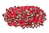 Margele Rizo, 2.5x6 mm, Opaque Red Capri Gold - 93200-27101