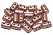 Margele rulla, 3x5 mm, Matte Metallic Bronze Copper