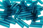 Margele TOHO, Bugle, 9 mm, Transparent Capri Blue