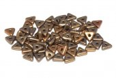 Tri-bead, 4 mm, Metallic Mix - 01610
